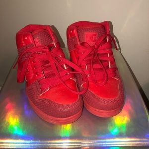 All Red DC Skate Shoes
